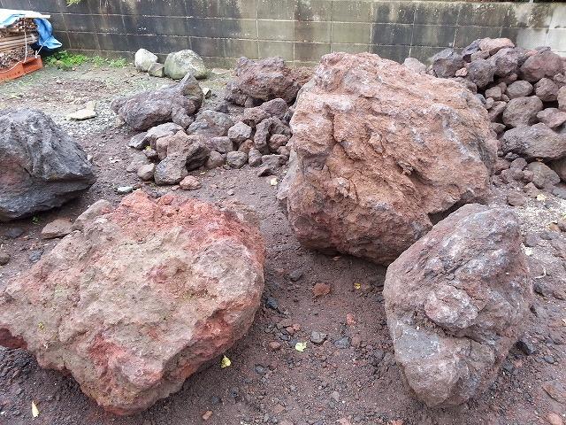 大きな溶岩石を出荷しました。